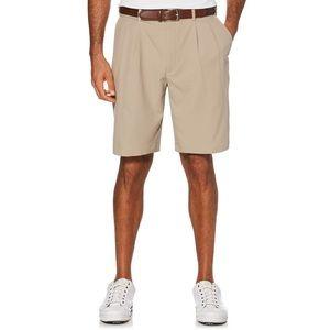 NWT PGA tour shorts khaki pleated front 32